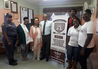 Principal and stakeholders at Booysen Park Secondary School